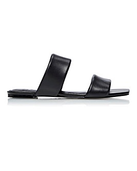 Dune Larla Padded Slip On Slider Sandals Standard D Fit