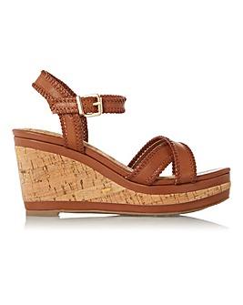 Dune Karm Cork Wedge Sandals Standard D Fit