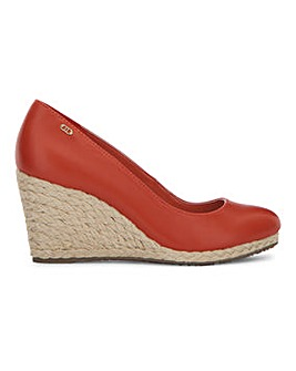 Dune Annabels Cork Wedge Court Shoes Standard D Fit