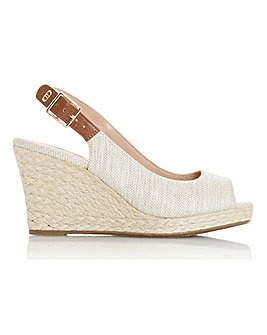 Dune Kicks Espadrille Sandals E Fit