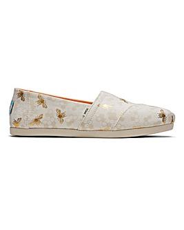 Toms Bumble Bees Alpargata Shoes D Fit