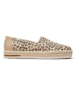 Toms Cheetah Alpargata Platform Shoes