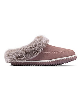 Clarks Home 2 Soft Suede Slippers D Fit