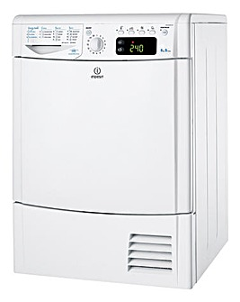 Indesit EcoTime IDCE8450BH 8kg Condenser Dryer White
