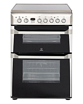 Indesit ID60C2X Electric Double 60cm Cooker Stainless