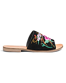 Fifi Embroidered Mule EEE Fit