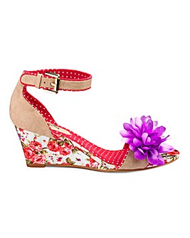 Joe Browns Floral Wedge EEE Fit