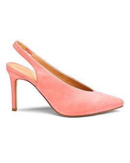 Mel Sling Back Shoe Wide E Fit