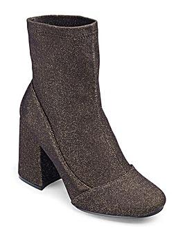 Glamorous Glitter Sock Boot Standard Fit