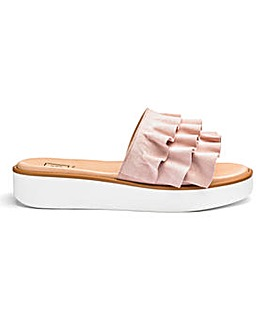 Sole Diva Ruffle Leather Sandals D Fit