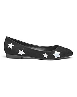 Milly Star Detail Flats Wide E Fit