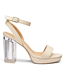 Louise Perspex Heel EEE Fit