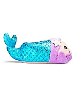 Mermaid Novelty Slipper Wide Fit