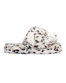 Snow Leopard Slider Slipper