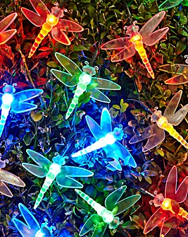 Set of 80 Multi Dragonfly String Lights