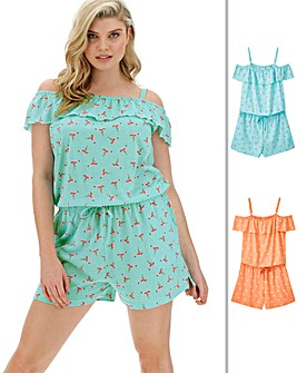 Pretty Secrets 2Pk Frill Playsuits