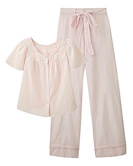 Pretty Secrets Cotton Dobby Pyjama Set