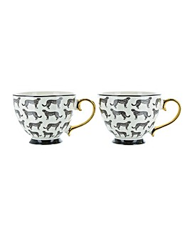 Set of 2 Leopard Footed Mugs