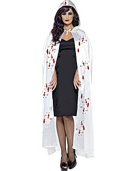 Halloween Adult White Blood Carnage Cape