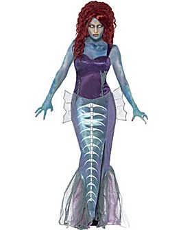 Halloween Ladies Zombie Mermaid Costume
