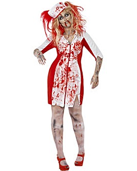 Halloween Ladies Curves Zombie Nurse