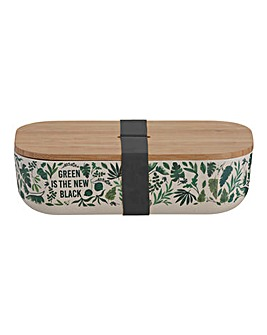 Leaf Print Bamboo Fibre Lunch Box