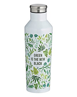 Leaf Print Double Walled Steel Bottle
