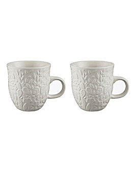 Mason Cash In The Forest Set of 2 Mugs