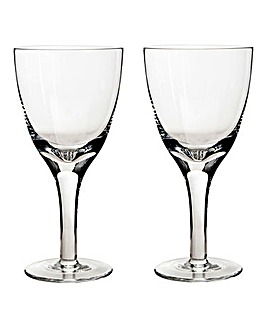 China by Denby 2 White Wine Glasses