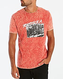 Jacamo Yokosuka Acid Wash T-Shirt Reg