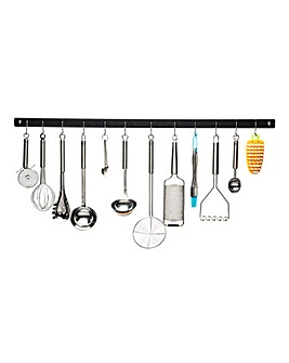 Metro Black 91cm Wall Utensil Rack