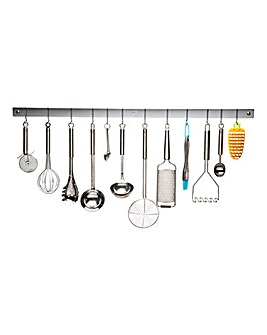 Metro Chrome 91cm Wall Utensil Rack