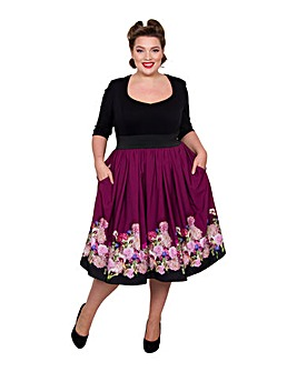 Scarlett & Jo Border Floral 2-in-1 Dress