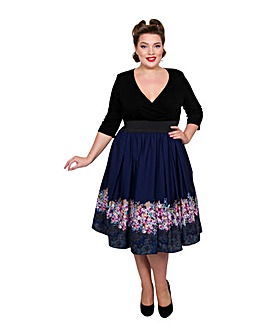 Scarlett & Jo Floral Wrap 2-in-1 Dress