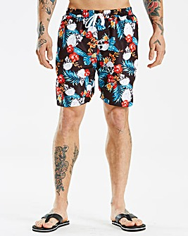 Jacamo Skull Printed Swim Shorts