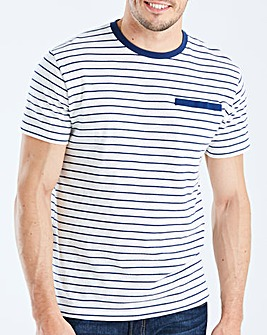 Jacamo Yarn Dye Stripe T-Shirt Regular