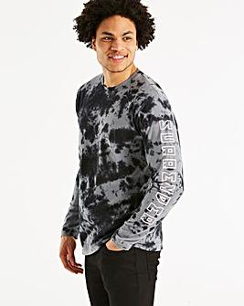 Jacamo Tie Dye L/S T-Shirt Long