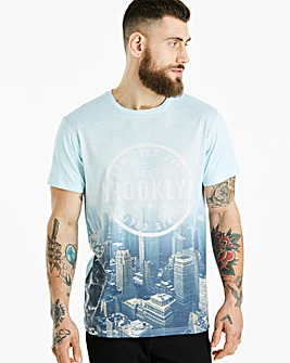 Jacamo City Print Sub T-Shirt Long