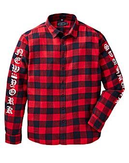 Label J Print Check Shirt Regular