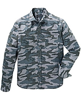 Label J LS Camo Print Shirt Long