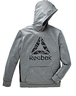 Reebok Workout Ready Poly Fleece Big Logo Hoody