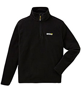 Regatta Black Thompson 1/4 Zip Fleece
