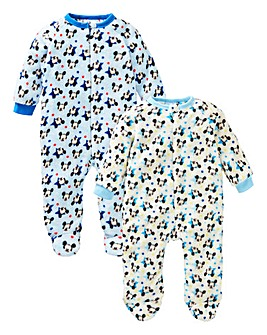 Mickey Mouse Pack of Two Sleepsuits