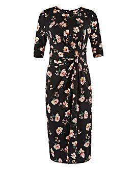 Floral Print Twist Knot Dress