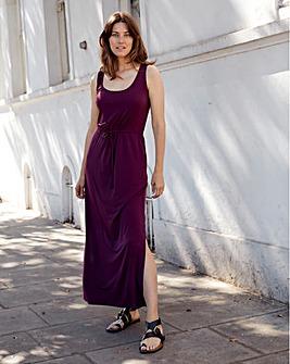 Aubergine Vest Maxi Dress