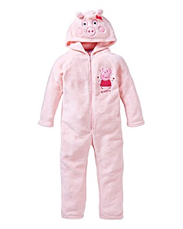 Peppa Pig Girls Fleece Onesie