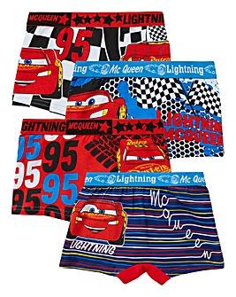 Cars Boys Pack Of Four Trunks