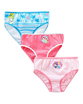 Disney Princess Pack Of Three Briefs