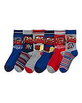 Cars Boys Pack Of Six Socks