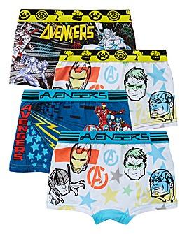 Marvel Avengers Boys Pack Of Four Trunks